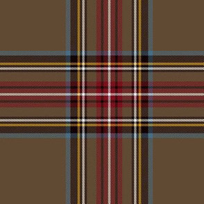 "King George VI / Green Stewart tartan, 6"" -  worn by Prince Charles, weathered colors"