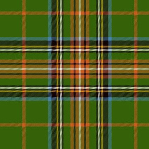 "King George VI / Green Stewart tartan, 6"" red stripe, ancient"