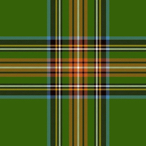 "King George VI / Green Stewart tartan,  6"" - worn by Prince Charles, ancient colors"