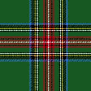 "King George VI / Green Stewart tartan,  6"" - worn by Prince Charles, modern colors"