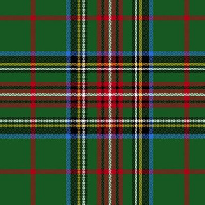 "King George VI / Green Stewart tartan, 6"" red stripe, modern"