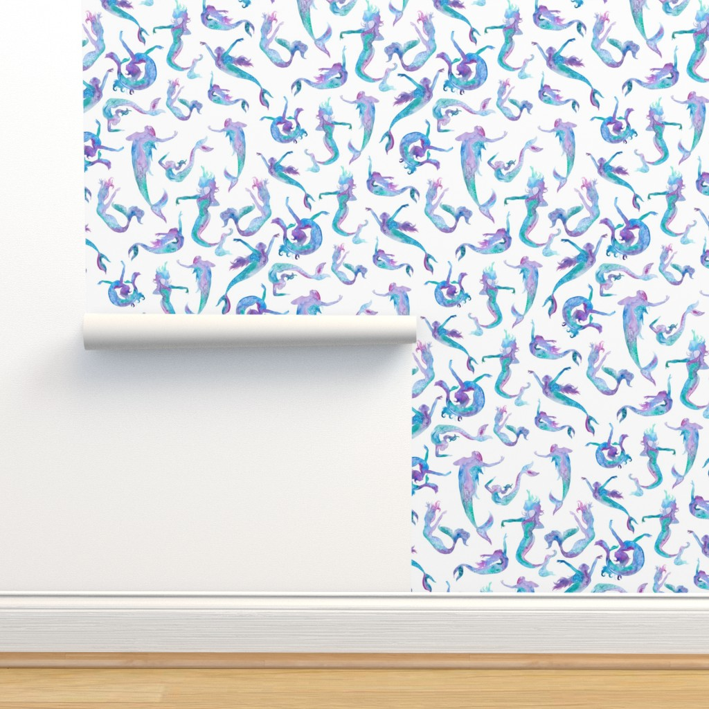 Isobar Durable Wallpaper featuring Dancing Mermaids Medium by gingerlique