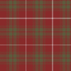 """Rothesay red doubled tartan, 6"""" weathered"""