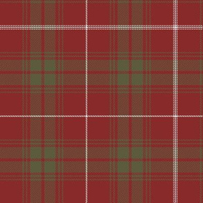 """Rothesay red doubled tartan, 7"""" weathered"""