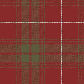"""Rothesay red doubled tartan, 12"""" weathered"""