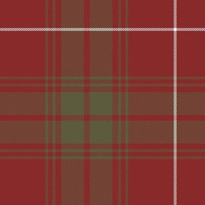 """Rothesay red doubled tartan, 14"""" weathered"""