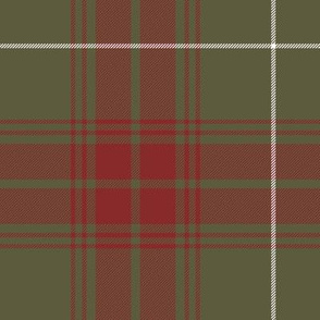 """Rothesay hunting doubled tartan, 14"""" weathered"""