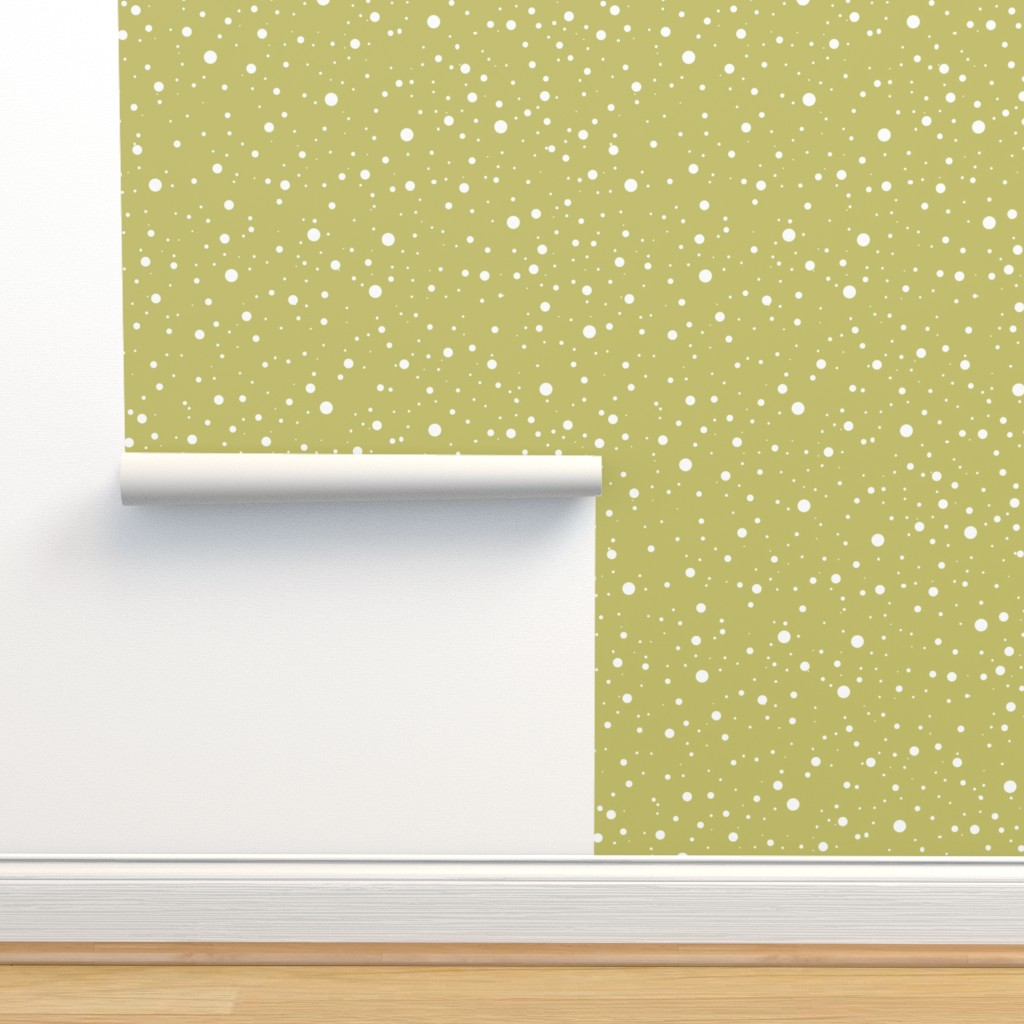 Isobar Durable Wallpaper featuring Snow gold (Mistletoe in the snow) by chicca_besso