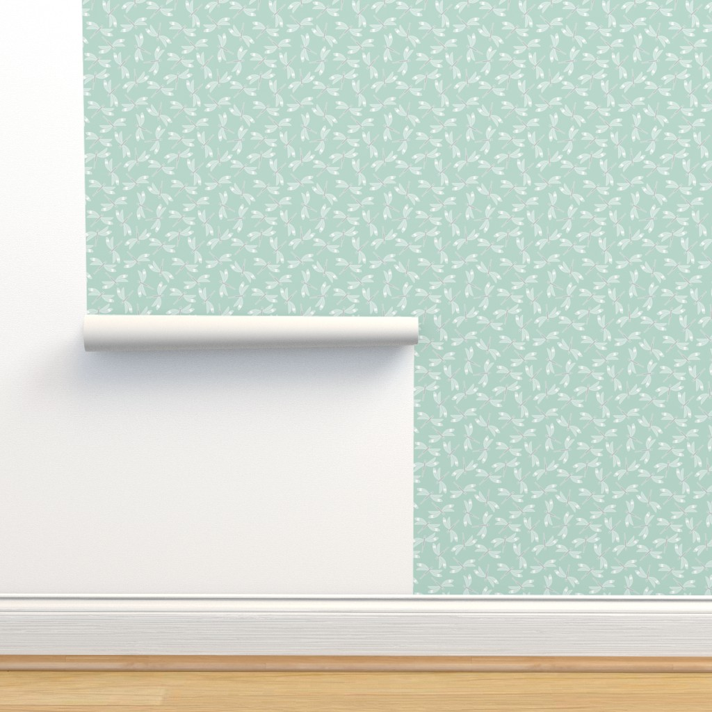 Isobar Durable Wallpaper featuring dragonfly mint lg by cindylindgren