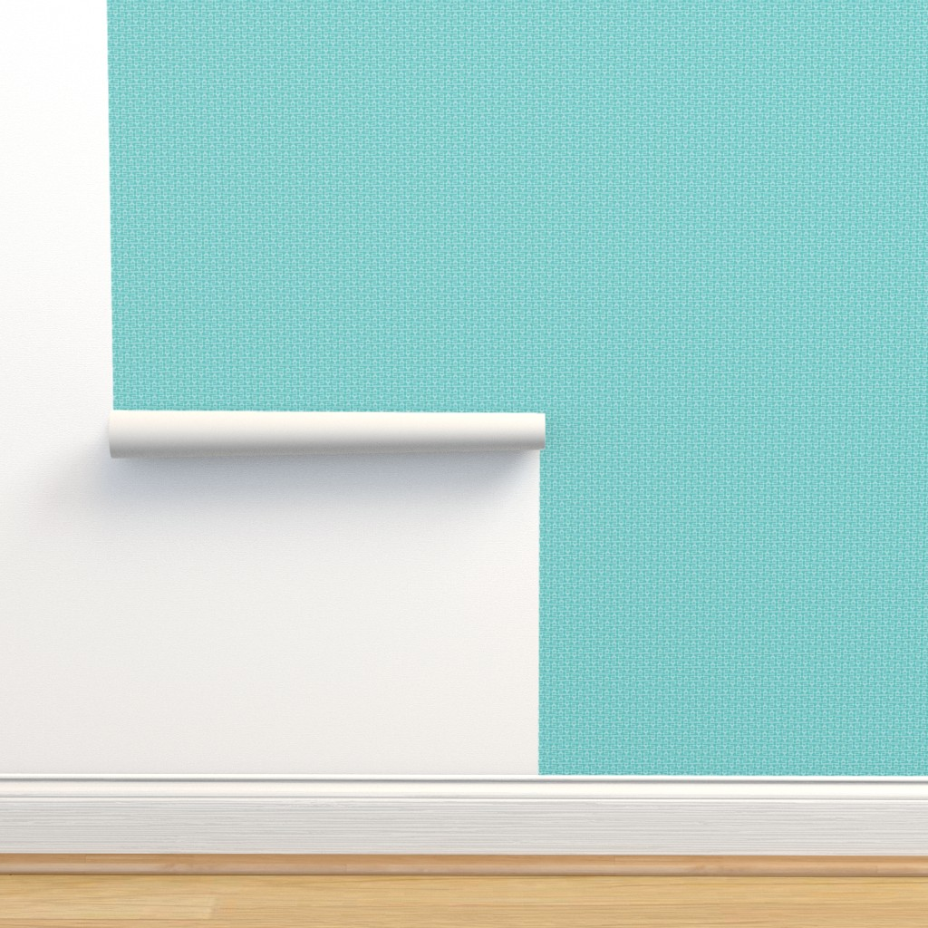Isobar Durable Wallpaper featuring turquoise boxes sm by cindylindgren
