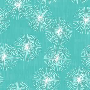 Dandelions M+M Aqua by Friztin