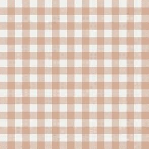 "almond check fabric - sfx1213 - 1/2"" squares - check fabric, neutral plaid, plaid fabric, buffalo plaid"