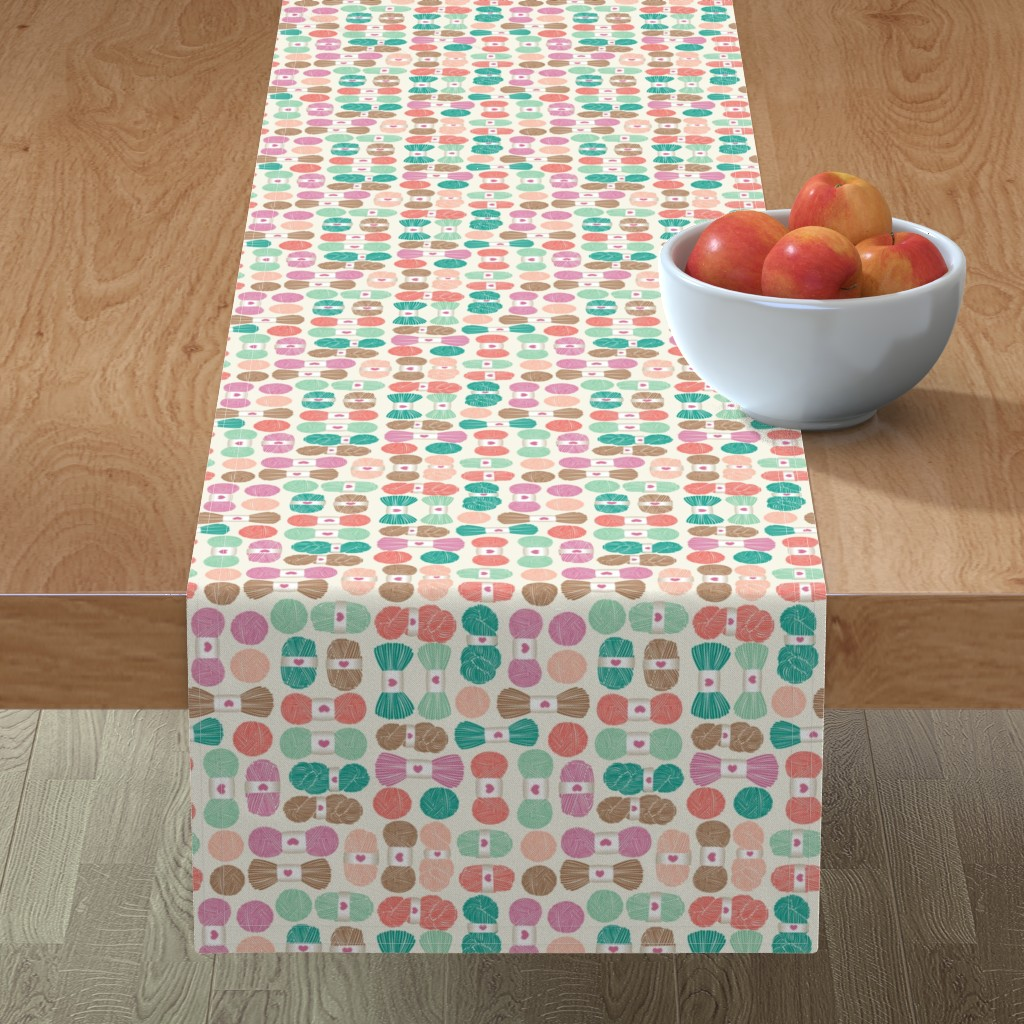 Minorca Table Runner featuring pink yarn by laura_mooney