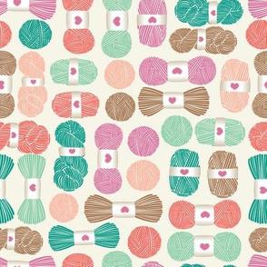pink yarn
