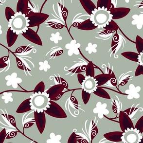Elegant Holiday Wildflowers on Gray