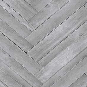 Light Grey Herringbone Wood Panels