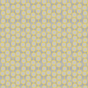 puffed square curtain in mustard - modern geometric collection