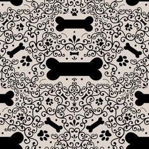 Doggie Damask (Beige)