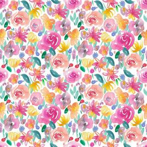 flirty floral watercolour