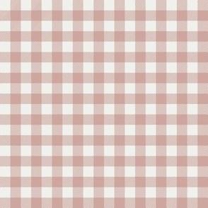 "rose pink check fabric - sfx1512 - 1/2"" squares - check fabric, neutral plaid, plaid fabric, buffalo plaid"