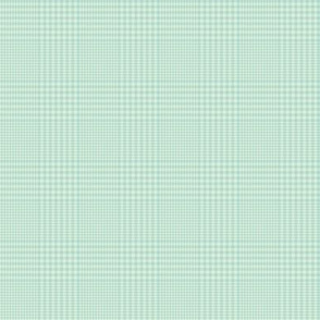 """Prince of Wales check #3, 2"""" light blue & mint"""