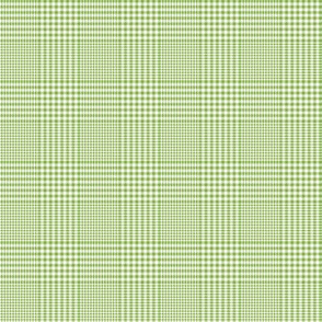 """Prince of Wales check #3, 2"""" green and white"""