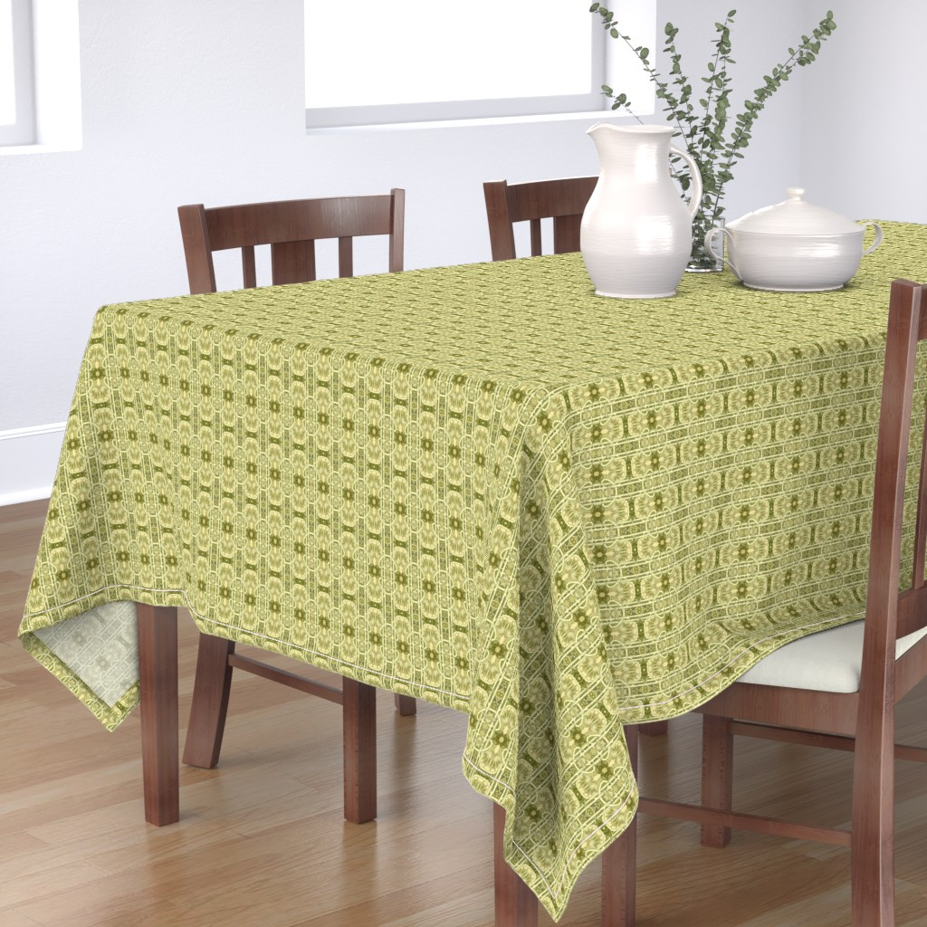 Bantam Rectangular Tablecloth featuring Colonial Echoes by edsel2084