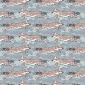 Wild Watercolored Dholes - slate