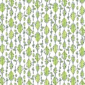 Oak Leaves and Acorns Stripes | Small