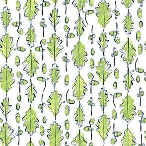 Oak Leaves and Acorns Stripes | Medium