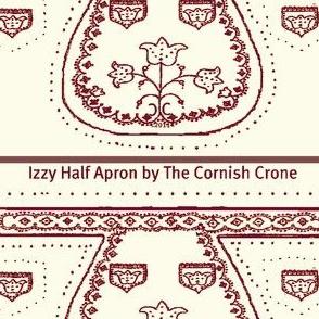 "Izzy Half Apron for 10"" doll final 6"" waist"