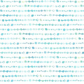 Light Blue Watercolor Beads | Small