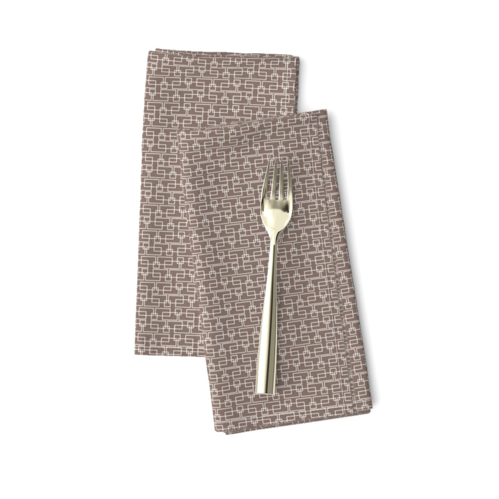 Amarela Dinner Napkins featuring brown boxes sm by cindylindgren
