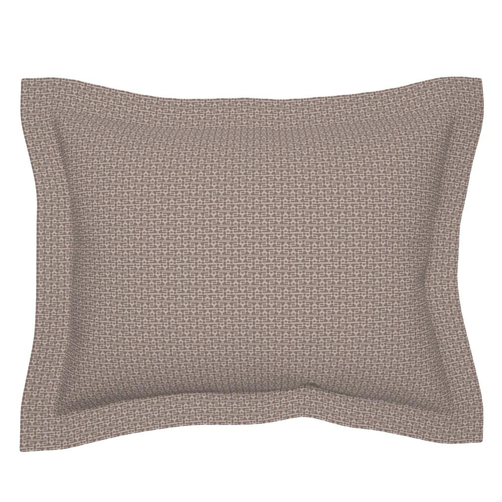 Sebright Pillow Sham featuring brown boxes sm by cindylindgren