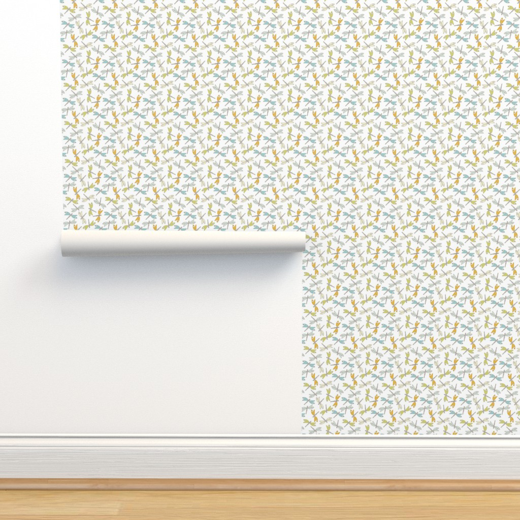 Isobar Durable Wallpaper featuring Dragonfly, white med by cindylindgren