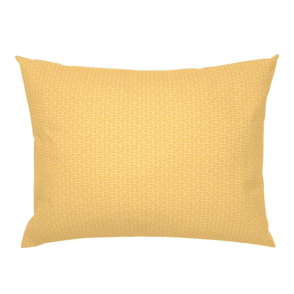 Campine Pillow Sham featuring orange box sm by cindylindgren