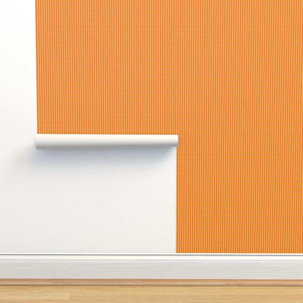 Isobar Durable Wallpaper featuring orange stripe med by cindylindgren