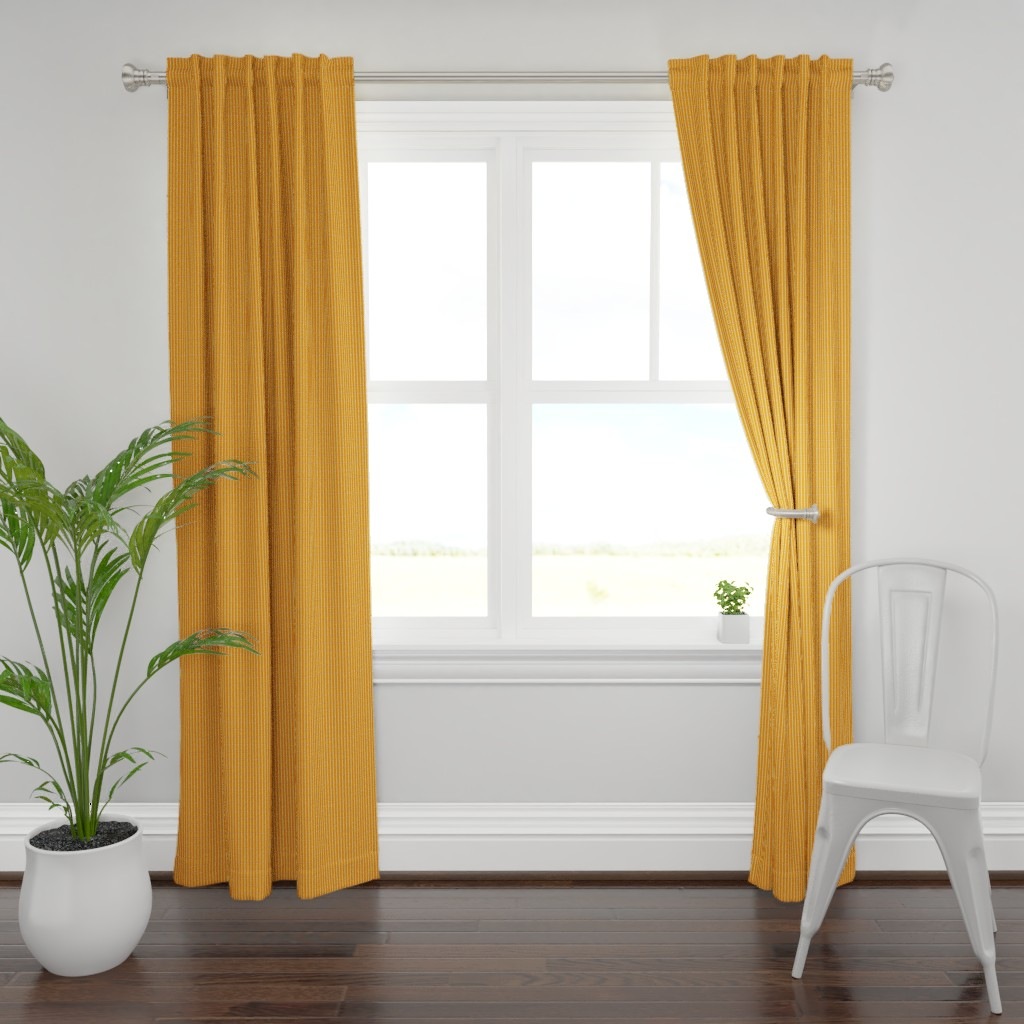 Plymouth Curtain Panel featuring orange stripe med by cindylindgren