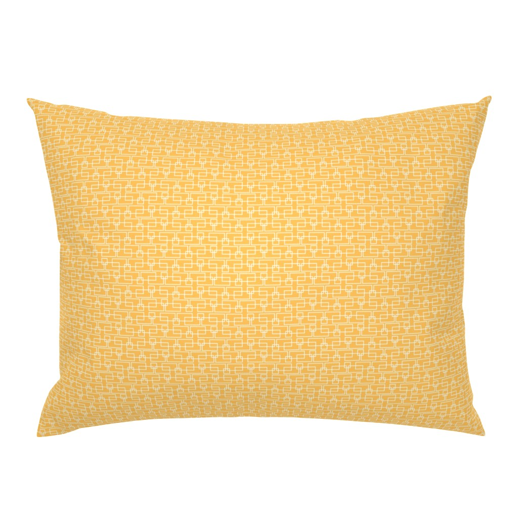 Campine Pillow Sham featuring orange boxes med by cindylindgren