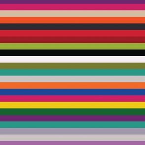 Modern Kilim Stripes - multicolored V2