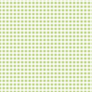 Light Green Plaid Fabric