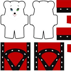 Royal Stuffed White Bear & Outfit