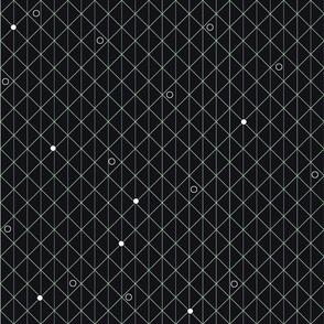 Black geometric dots