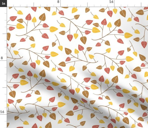 Autumn Leaves Blowing In The Wind Spoonflower