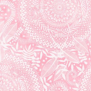 Medallion Pattern in Blush Pink