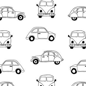 Vintage old timer cars for classic car lovers gender neutral monochrome black and white