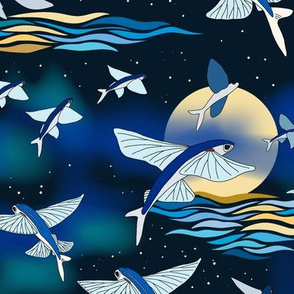 flying fish after dark