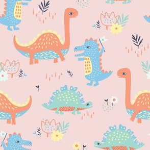 ROARSOME DINOS pink
