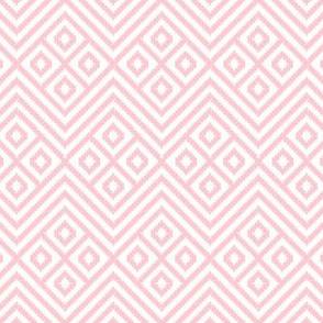 Diamond Geometric Blanket Light Pink