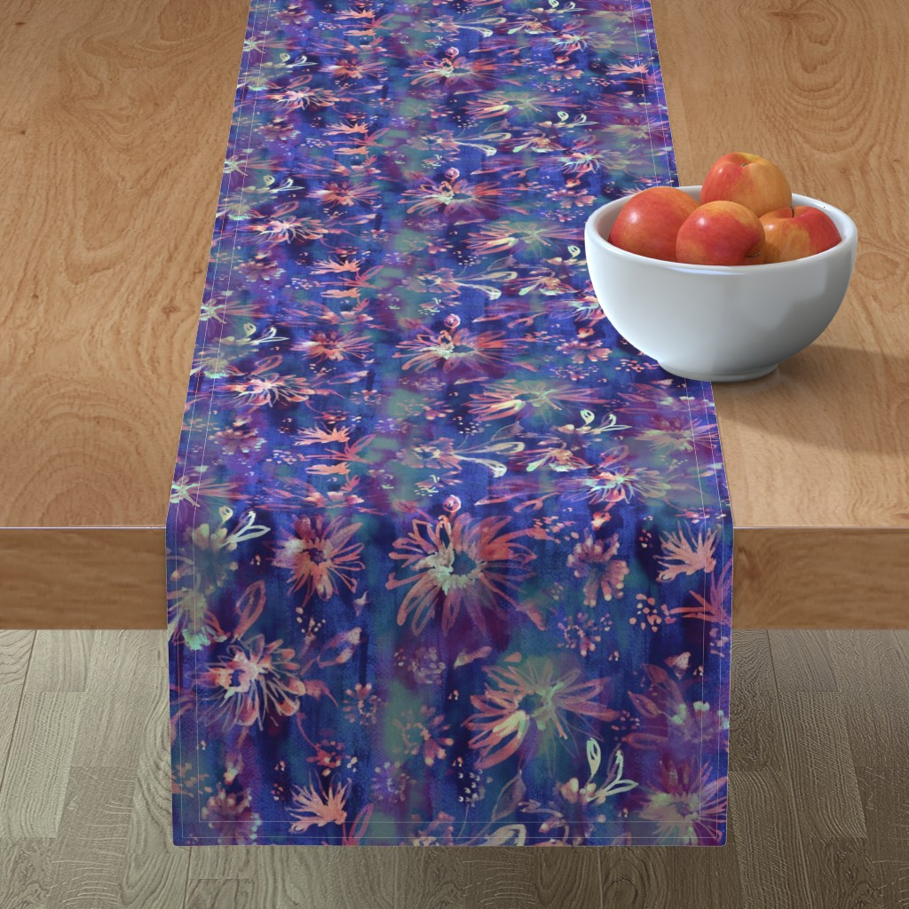 Minorca Table Runner featuring Lovely floral passion by schatzibrown